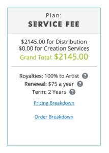 Quiver Service Fee